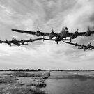 Dambusters practise low flying by Gary Eason