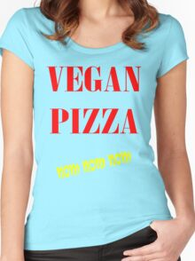 VEGAN PIZZA Women's Fitted Scoop T-Shirt