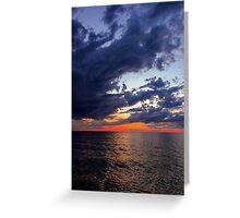 Big Water at Sundown - Lake Michigan Greeting Card