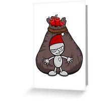 Merry Robot Christmas Greeting Card