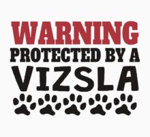 Protected By A Vizsla Kids Tee