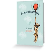 Border Terrier Congratulations Greeting Card Greeting Card