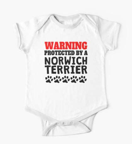 Protected By A Norwich Terrier One Piece - Short Sleeve