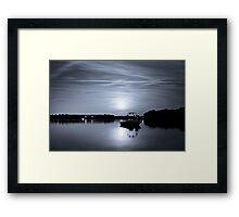 Early Morning Moonrise Framed Print