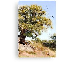 Charnwood Forest Watercolour Canvas Print