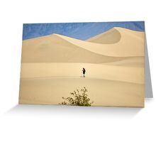 Where desert winds blow Greeting Card
