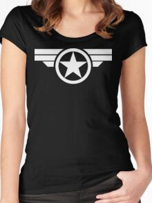 Super Soldier - White Women's Fitted Scoop T-Shirt