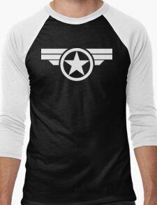 Super Soldier - White Men's Baseball ¾ T-Shirt