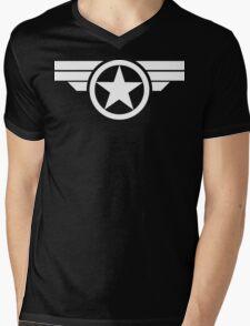 Super Soldier - White Mens V-Neck T-Shirt