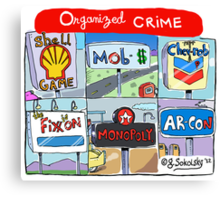 """Organized Crime"" Canvas Print"