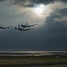 Dambusters training over The Wash by Gary Eason