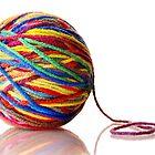 ball of yarn by Jim  Hughes