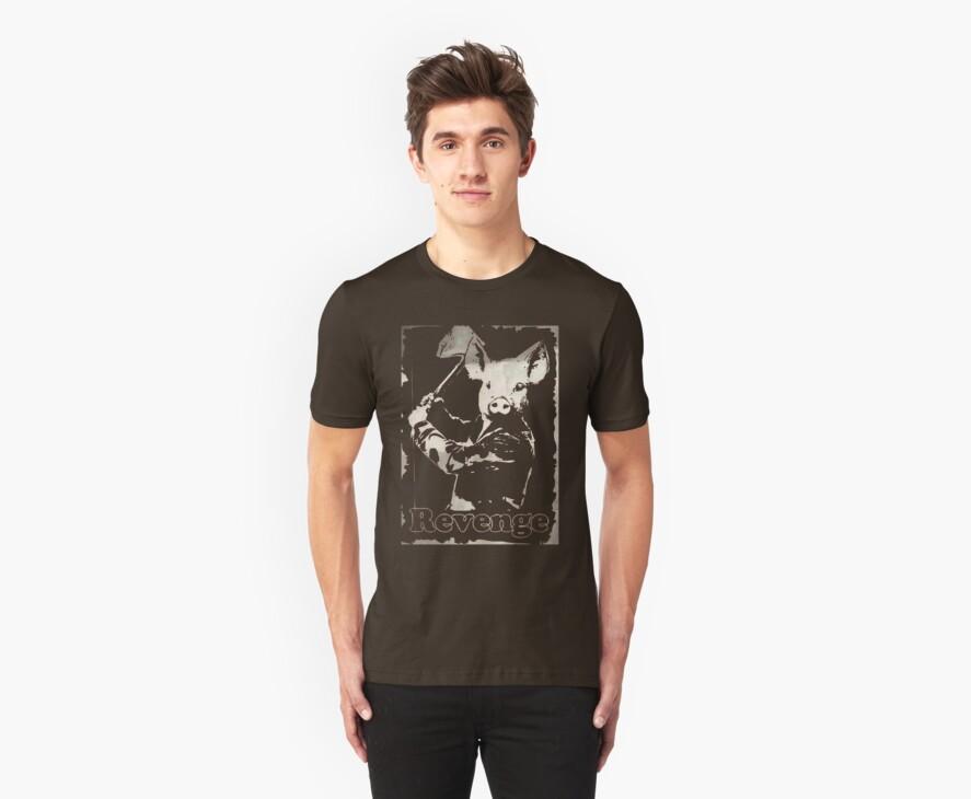 Revenge vegetarian, vegan shirt by J. Stoneking