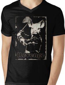 Revenge vegetarian, vegan shirt Mens V-Neck T-Shirt