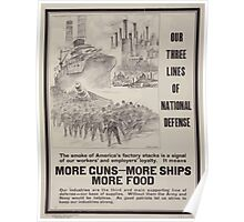 Our three lines of national defense 002 Poster