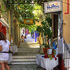 Symi Alleyway Steps by Tom Gomez