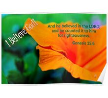 And He Believed in the Lord. . . Poster