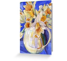 Daffodils in a Yellow Vase Greeting Card