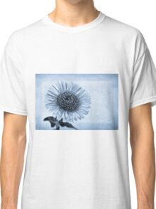 Cyanotype Aster with Textures Classic T-Shirt
