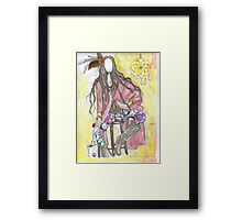 trible fashion illustration Framed Print