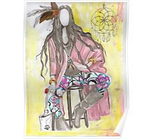 trible fashion illustration Poster