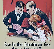 Are you saving for the childrenSave for their education and give them a start in life Buy war savings certificates 418 by wetdryvac