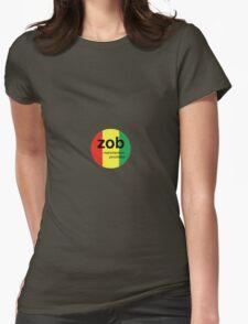 Zob Glass Sicker (Rasta) Womens Fitted T-Shirt