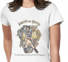 Bolted And Volted Womens Fitted T-Shirt