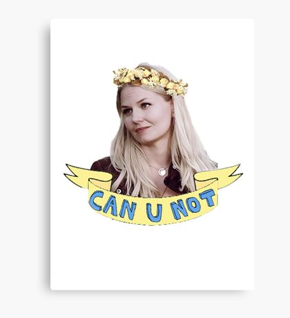 Emma Swan doesn't take any of your poop Canvas Print