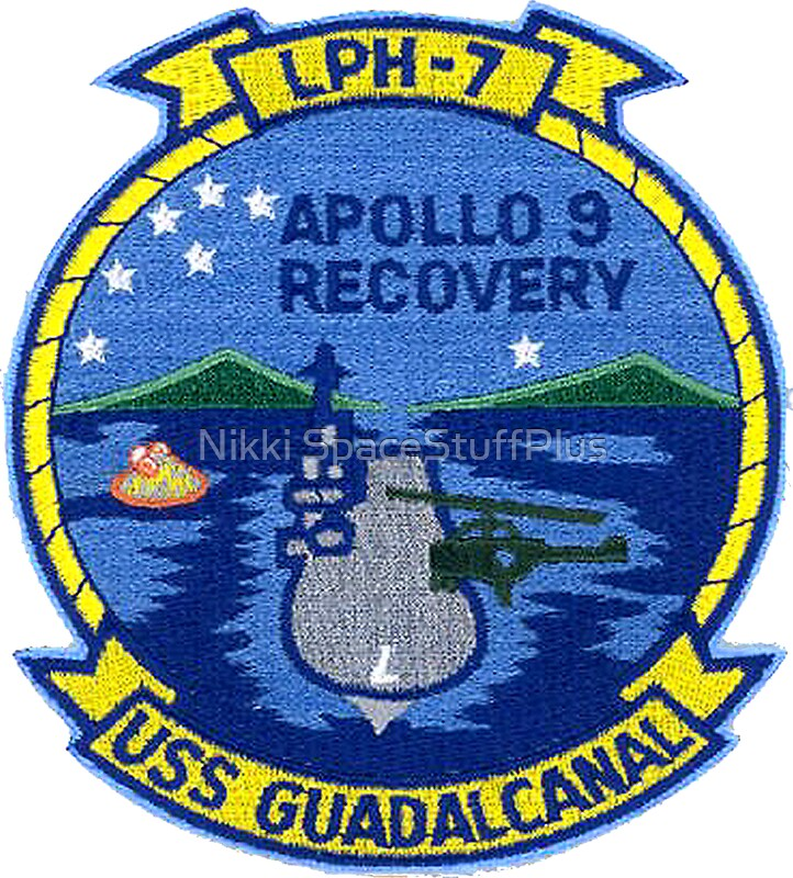"""Apollo 9 Recovery: USS Guadalcanal (LPH-7) "" Stickers by ..."