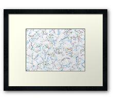 Tube Map  Framed Print