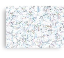 Tube Map  Canvas Print