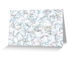 Tube Map  Greeting Card