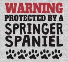 Protected By A Springer Spaniel One Piece - Long Sleeve