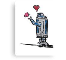 Droid love Canvas Print