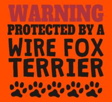 Protected By A Wire Fox Terrier Kids Tee