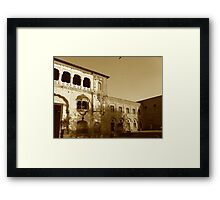 Mughal Architecture - back in the day Framed Print