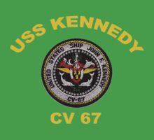 USS John F. Kennedy (CV-67) Crest for Dark Colors One Piece - Short Sleeve