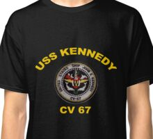 USS John F. Kennedy (CV-67) Crest for Dark Colors Classic T-Shirt