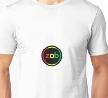 Zob Glass Sticker (Rasta) Unisex T-Shirt
