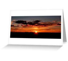Outback Sunrise Greeting Card