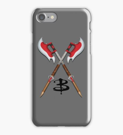 Buffy -- Scythes Crossed iPhone Case/Skin