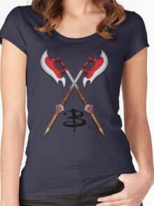 Buffy -- Scythes Crossed Women's Fitted Scoop T-Shirt