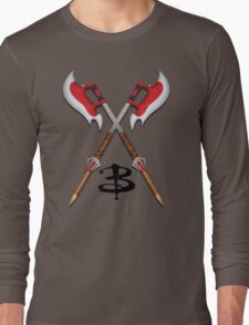 Buffy -- Scythes Crossed Long Sleeve T-Shirt