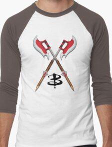 Buffy -- Scythes Crossed Men's Baseball ¾ T-Shirt