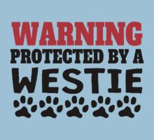 Protected By A Westie Kids Tee