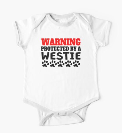 Protected By A Westie One Piece - Short Sleeve