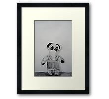 Knitted Overalls Framed Print