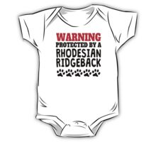 Protected By A Rhodesian Ridgeback One Piece - Short Sleeve