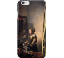 Girl reading a letter iPhone Case/Skin
